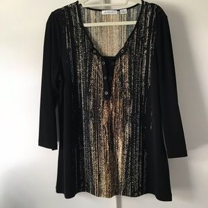 Liz Claiborne's black tunic   Size XL